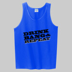 Drink Bang & Repeat Lax Bro Summertime Tank