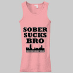 Ladies Sober Sucks Bro Skyline Series Tank