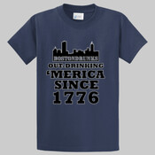 Tall BostonDrunks Out-Drinking 'Merica Since 1776 T-Shirt