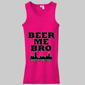 Ladies Beer Me Bro Skyline Series Tank